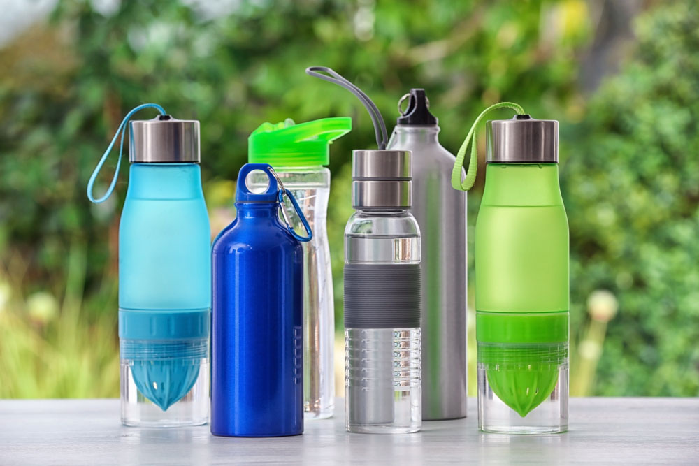 Flasker i flere versjoner.